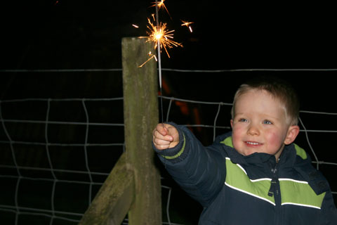 Look at my sparkler!