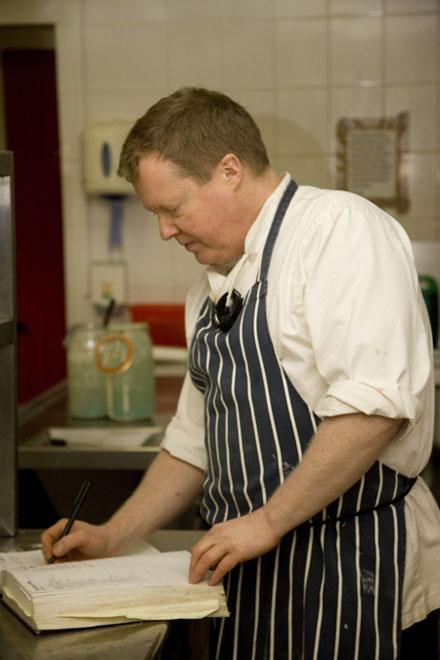 Head Chef Colin MacDonald preparing the menu
