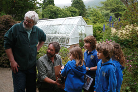 Pupils from Craignish Primary School learning about animal life in Arduaine Garden.
