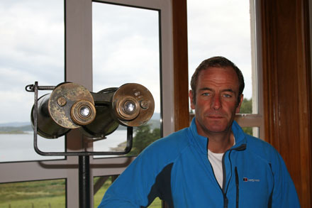 Robson Green in Loch Melfort's Binocular Lounge.