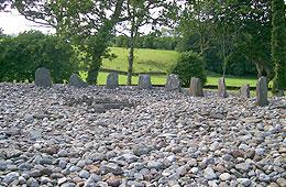 Stone circle in Kilmartin Glen.