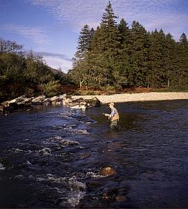 Fly fishing in Glen Etive.