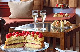 Homemade afternoon tea at Loch Melfort Hotel.