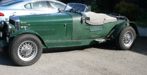 Classic car at Loch Melfort Hotel