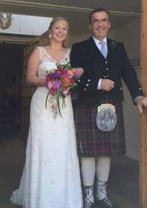 Amy ready for her Highland Tipi Wedding.